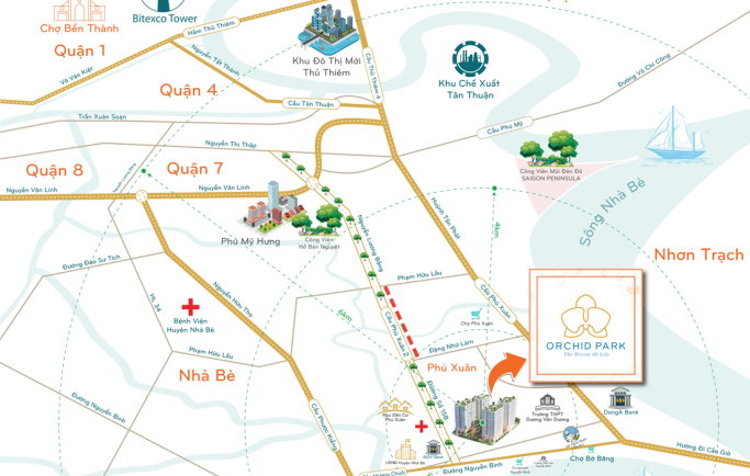 Bán căn hộ giá chỉ 14,3 triệu liền kề trung tâm Phú Mỹ Hưng 4km chỉ có tại dự án Orchid Park