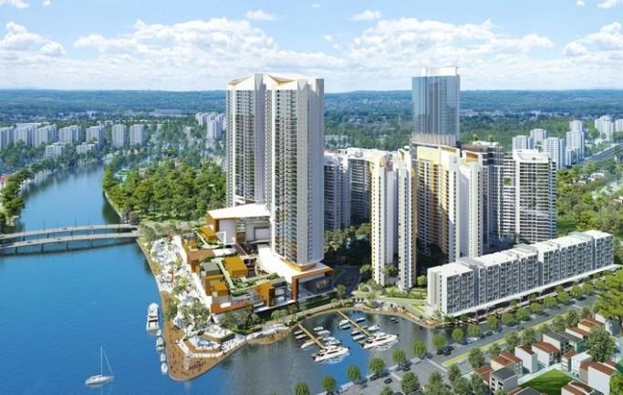 Căn hộ cao cấp diamond lotus riverside căn hộ thoáng mát trục đường chính dự án qui mô