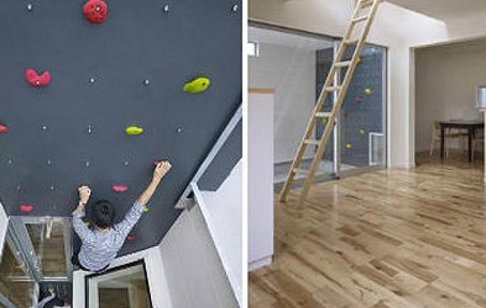 """""""Chấm điểm"""" mẫu tường nhà với thiết kế leo núi cực sáng tạo"""