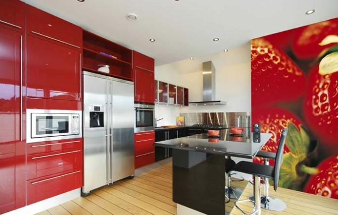 Mách bạn cách chọn tranh dán tường phòng bếp đẹp