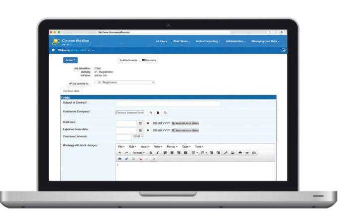 Quản lý tài liệu với Chronos Workflow Platform