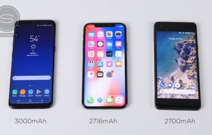 Samsung Galaxy S8 đánh bại Google Pixel 2 và iPhone X trong cuộc đọ sức về tốc độ sạc nhanh