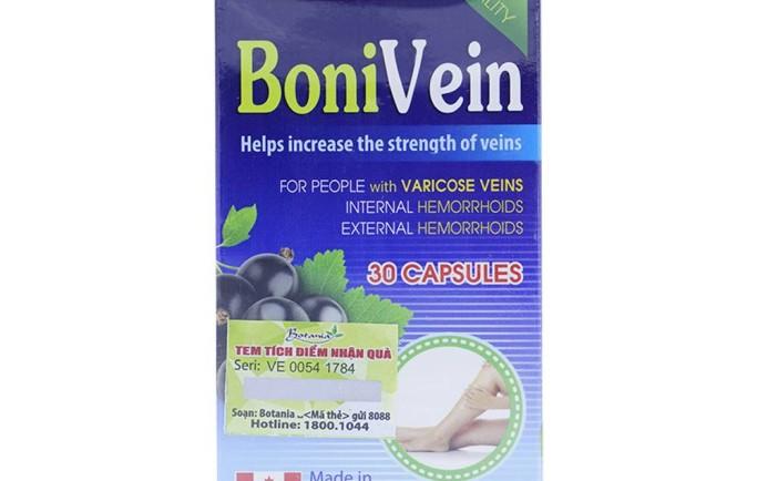 Thực phẩm chức năng bonivein giúp chữa trị suy giãn tĩnh mạch hiệu quả