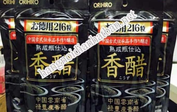 Tìm hiểu sản phẩm dấm đen giảm cân Orihiro Nhật Bản