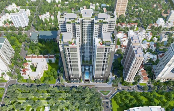 Tổng thể dự án PD Green Park số 1 Trần Thủ Độ