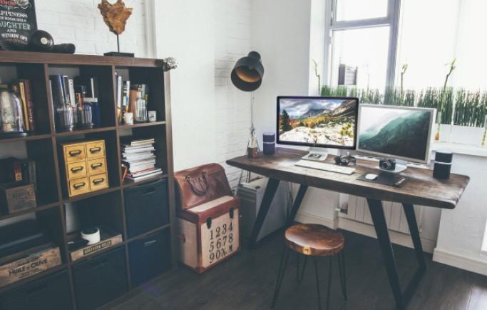 Ý tưởng văn phòng tại nhà cực sang chảnh