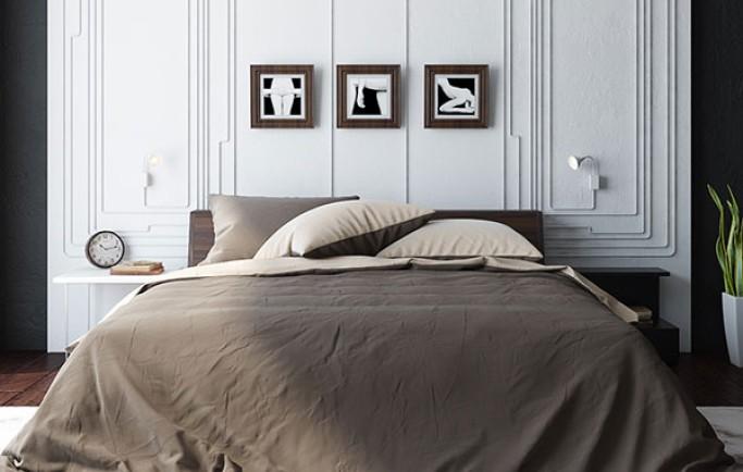 Phong cách Monochromes trong thiết kế nội thất phòng ngủ