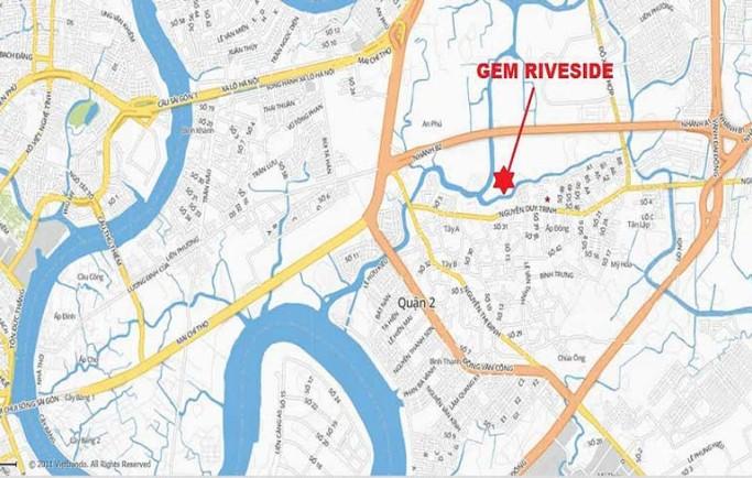 Vị trí vàng của lá phổi xanh dự án căn hộ Gem Riverside Đất Xanh